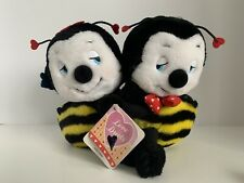 Applause Bees � � Yellow Black Hugging Stuffed Animals 1987 Vintage 7� Tall