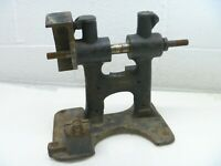 Bench Grinder Base Cast Iron Belt Pulley Driven Vintage Antique  As Is