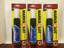 ( 3 ) Marks-A-Lot Jumbo Chisel Tip Washable Marker, Black (24158) New