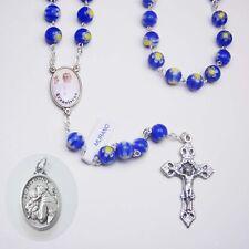 Pope Francis Murano Millefiori Glass Rosary - Bonus St. Anthony Relic Medal