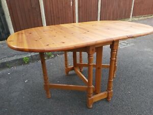 solid pine dropleaf / gatefold dining table