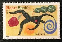 2012 Scott #4625 Forever - HEART HEALTH - Single Stamp - Mint NH