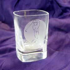 Engraved Golf Shot Glass - Frosted Effect - Figure Midswing - In Box