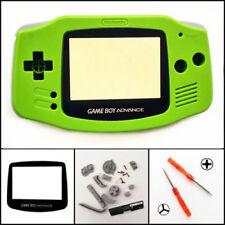GBA Nintendo Game Boy Advance Replacement Housing Shell GLASS Screen Kiwi Green