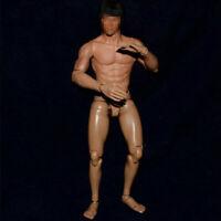 "12"" Narrow Shoulder Muscular Action Figure Body Fit 1:6 Scale Male Head Sculpt"