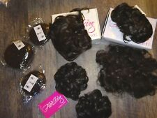 the Wig company hair pieces ~ LOT 5 bun pony tail holder DARK BROWN