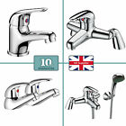 Cherry Chrome Bathroom Tap Set Bath Filler Shower Mixer Mono Basin Taps