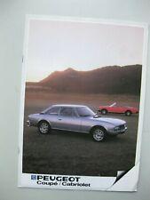 Peugeot 504 Coupe Cabriolet brochure Prospekt text Dutch 16 pages 1983