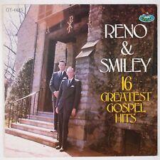 RENO & SMILEY: 16 Greatest Gospel Hits USA GUSTO Bluegrass Vinyl LP NM-