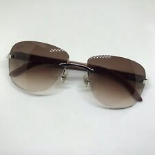 With Brown Cartier Lenses 57-18-140 Cartier C Decor Platinum Bubinga Wood