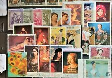 Stimulating 100 WW PAINTING~ART ON STAMPS~ TOPICAL PARADISE! Own your Gallery L1