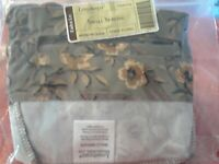New Longaberger Small Serving Fabric Basket Liner in Khaki Floral #23567278