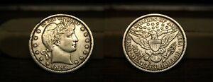 1892-P BARBER LIBERTY HEAD QUARTER 1892P US COIN