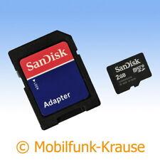 Tarjeta de memoria SanDisk MicroSD 2gb F. blackberry 8830