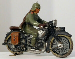 Lineol German Composition Soldier on Motorcycle #2