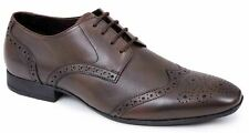 Vestido De Boda Zapatos con Cordones para Hombre de Cuero Estilo Traje De Trabajo De Oficina Talla formal