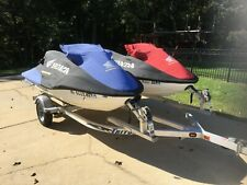 Dual Honda Jet Skis Aquatrax F-12 Personal Watercraft RARE FIND With D/Trailer