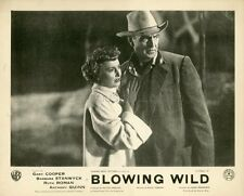 GARY COOPER  BARBARA STANWICK  BLOWING WILD  1953 VINTAGE LOBBY CARD