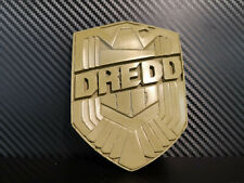 Dredd Badge cold cast brass from production piece with stand