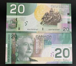 2009 Bank Of Canada $20 UNC Radar EUV 7610167 Bill Reid Spirit of Haida