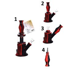 4in1 silicone water pipe bubbler bong for tobacco with mini grinder and chillum