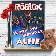 EXTRA LARGE Roblox **Personalised A4 Birthday Card** Son Niece Grandson Nephew