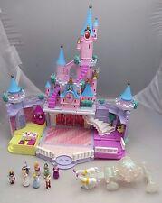 Vintage 1995 Polly Pocket Disney Cinderella's Enchanted Castle COMPLETE - works