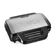 Tower T27013 Deep Fill Sandwich Maker, Easy Clean, Ceramic Stone Coated, 900 W,