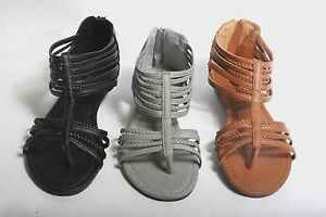 New Women's Fashion Gladiator Strappy Sandals Shoe's *Run a half size small