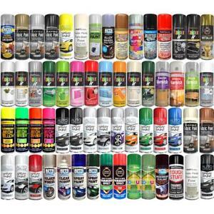 Spray Paint Aerosol Primer Matt Gloss Metallic Chalk Glitter Wood Metal Plastic