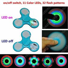 2 Pack LED Light up Fidget Spinners Fidget Toys Finger Spinners with 32 patterns