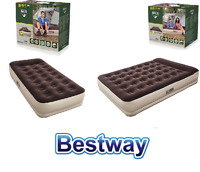 Premium Deluxe Double Single Built in Pump Raised Air bed Inflatable Camping