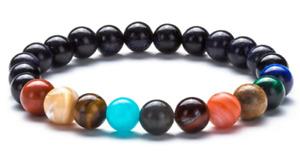 Eight Planets 7Chakra Universe Beaded Natural Stone Bracelets Yoga Bangle Women