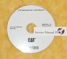 SEBP5349 Caterpillar C15 Generator Set Parts Manual Book CD