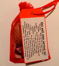 GET WELL SOON NOVELTY GIFT ~ MINI SURVIVAL KIT ~ UNUSUAL PRESENT