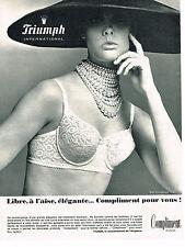 PUBLICITE ADVERTISING 014   1965   TRIUMPH   soutien gorge COMPLIMENT 2