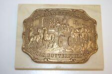 Vintage Collector Art Mint LTD Ceramic Mounted Cast American Express Belt Buckle