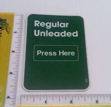 Gas Pump Sticker Replacement Parts - Regular Unleaded (Large) - Part #326