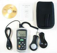 DT-1309 Luxmeter Digital 40K FC Meter 400K Lux Light USB Port Computer Interface
