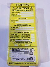 Brady  SCAF-STSI 694, TAG Insert scaffold CAUTION- YL 100/Package (100 Tags)
