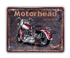 Schild Retro Motorhead Blechschild Vintage  Stil Nostalgisch