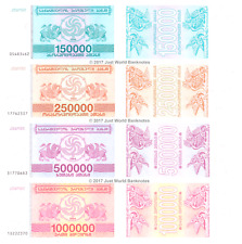 Georgia 150000 + 250000 + 500000 + 1000000 Laris 1994 Set of 4 Banknotes UNC