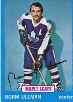 Norm Ullman 1973 Topps Autograph #148 Maple Leafs