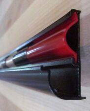 "96"" BLACK Aluminum Vinyl Insert Gutter Drip Rail Trim 1 1/2"" x 7/8"" Leg RV-775"