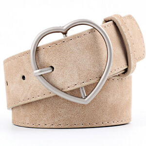 Women PU Leather Pin Buckle Belt Casual for Jeans Dress Waist Strap Waistband