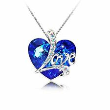 Anniversary Birthday Gift For Her Girls Necklace Pendant Swarovski Heart Love
