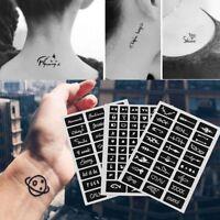 105pcs/set Tattoo Stencils Body Art Template Temporary Decal India Henna Kit