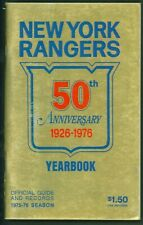 New York Rangers 1976 50th Anniversary Yearbook Hockey Guide Records 1975-76