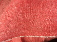 Coral Red 100% Cotton Chambray Fabric Material 112cm Wide ~ Sold by the Metre