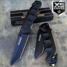 """8"""" TAC FORCE Black TANTO BLADE Spring Assisted Tactical Folding Pocket Knife"""